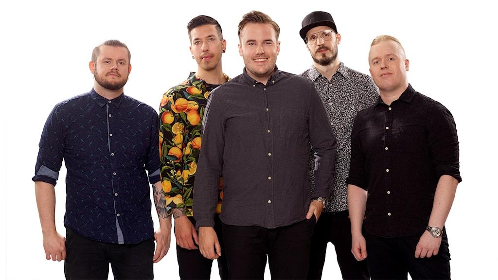 Gruppen Leo Minore, lokal finalist i P4 Nästa Västernorrland 2019 med låten Midnight, låt 1. Foto: Olle Melkerhed/Sveriges Radio