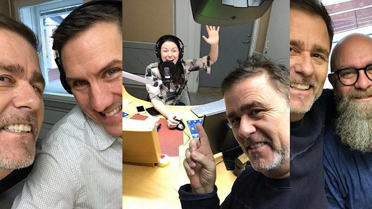 Jan Johansen med programledarna