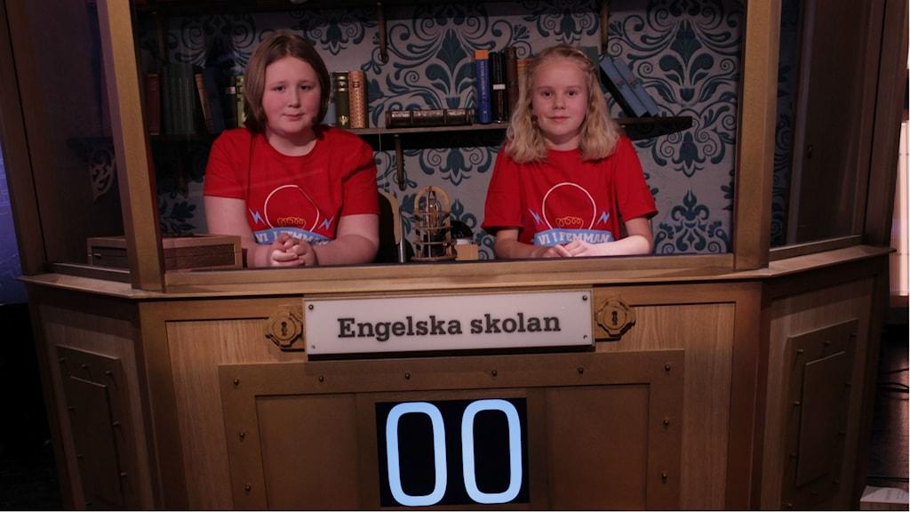 Alva och Eilif tävlar ikväll i finalen av vi i femman.