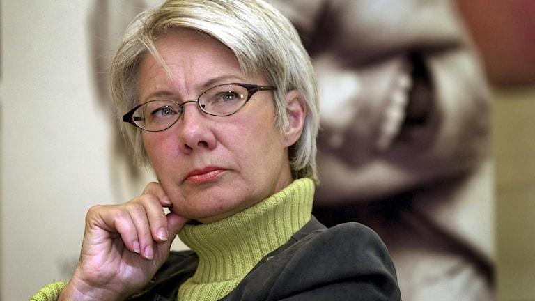 Arkivbild på Görel Thurdin från hennes tid som ordförande i Rädda barnen år 2000.