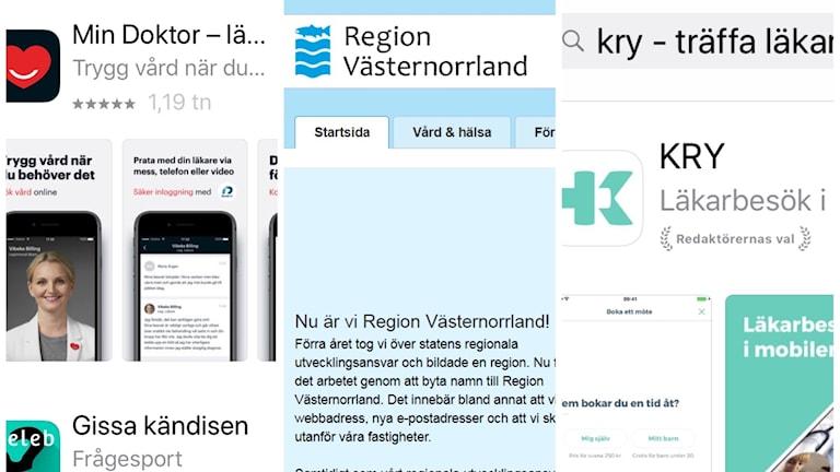 Appar och vårdtjänsten digitalt. Foto Ulla Öhman