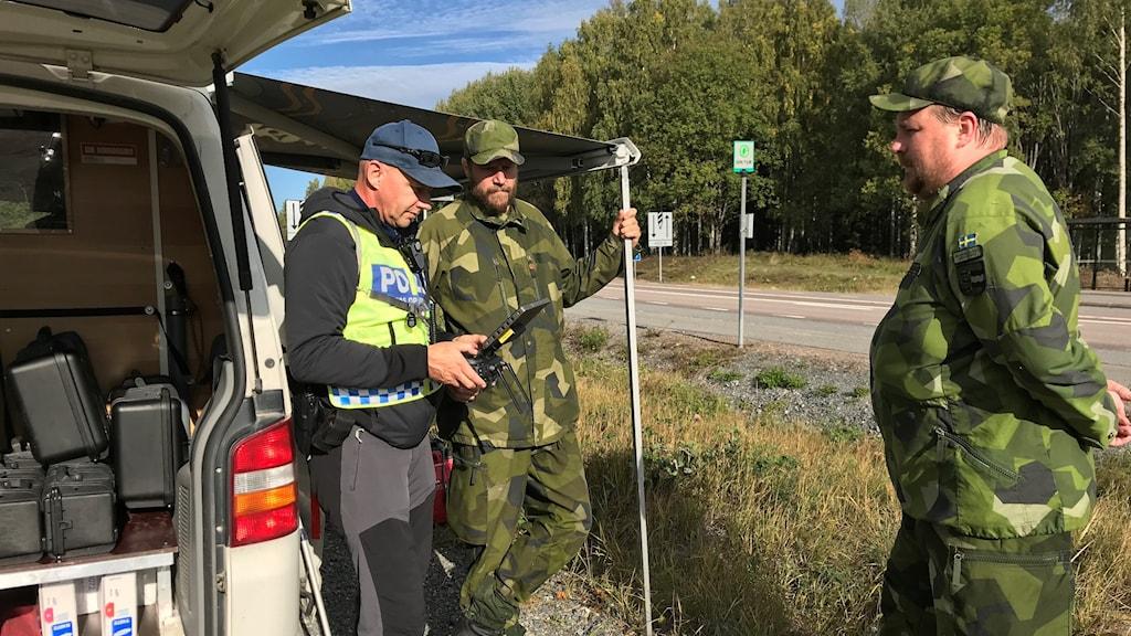 Hemvärnet och polisen söker efter försvunna kvinnan i Sollefteå.