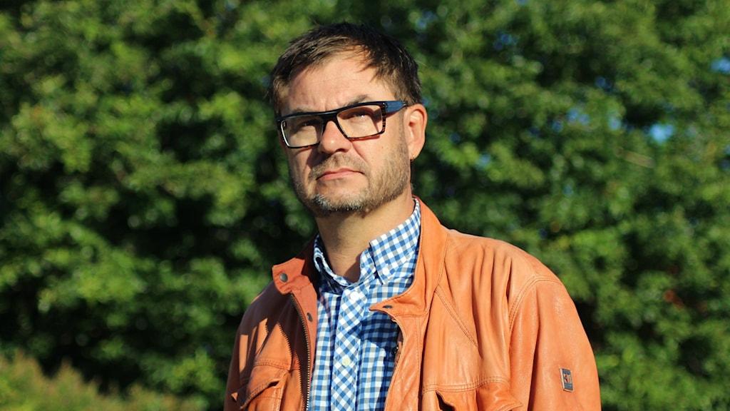 Mikael Flodström som är vd på scenkonst västernorrland. Foto Sara Johansson/SR