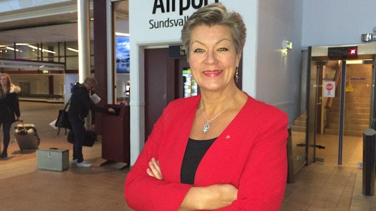 Ylva Johansson besökte Medelpad och Ånge idag.