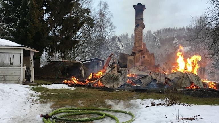 Villabrand i Vattjom. Foto: Ingrid Engstedt Edfast P4 Västernorrland