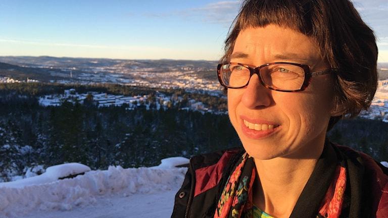 Johanna Thurdin, Miljöpartiet, på Södra berget i Sundsvall.