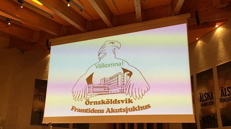 Örnsköldsvik framtidens akutsjukhus anordnade möte i pingstkyrkan i Ö-vik