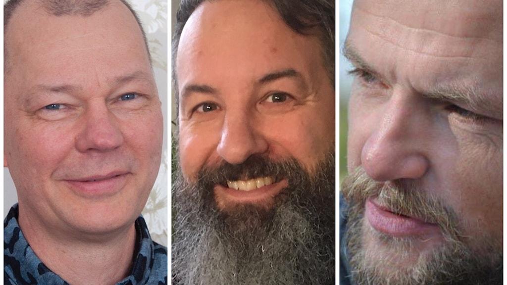 Lars Kågström, Björn Westerlund och Andreas Brännlund. Foto Ulla Öhman samt Privat