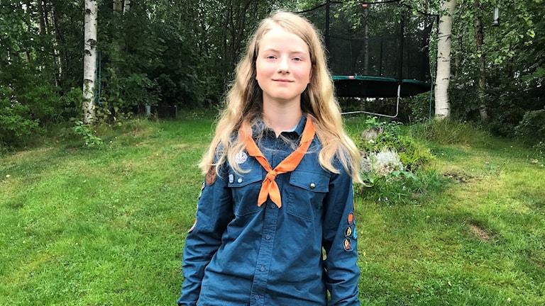 Lovisa Hamrin, 13, från Sundsvall är talesperson för 14 000 scouter.