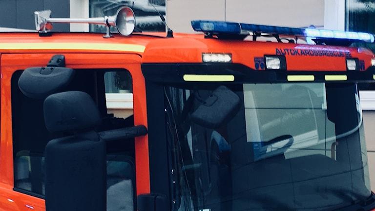 Del av brandbil