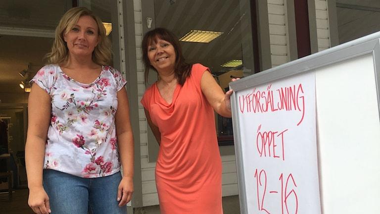 Aini Sjölander och Camilla Danielsson är Butiksägare i Sollefteå