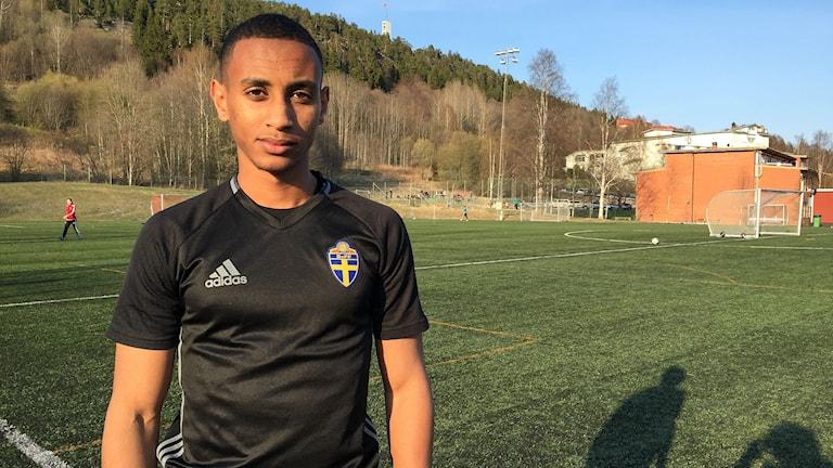 Temesgen Eyes, fotbollsdomare i Sundsvall.