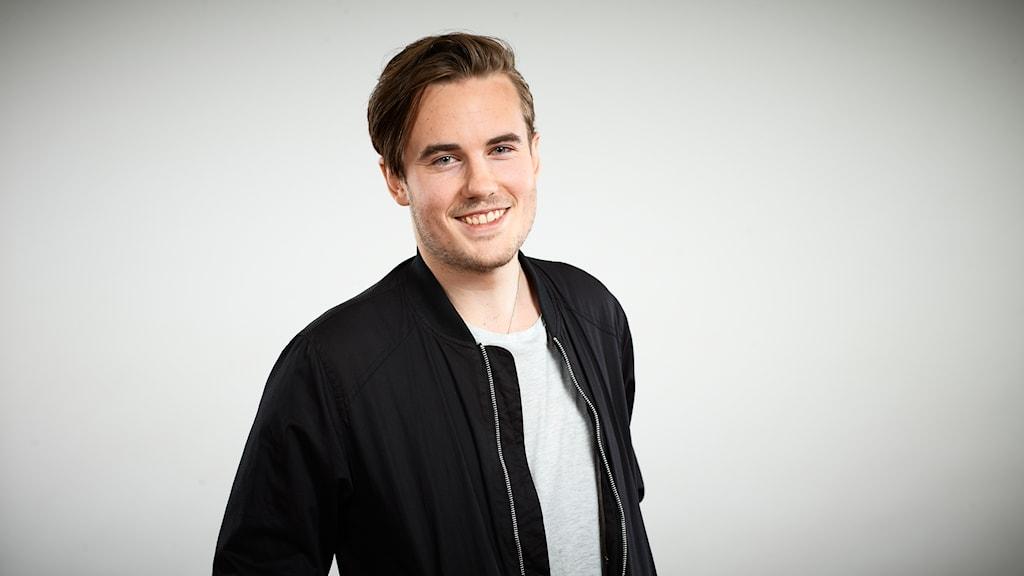 Marcus Jonsson, lokal finalist i Svensktoppen nästa 2016, P4 Västernorrland. Foto: Kristofer Lönnå/Sveriges Radio