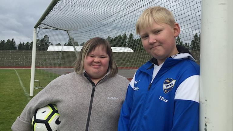 Malin Åsen och Elias Bergman i IFK Timrå FFF
