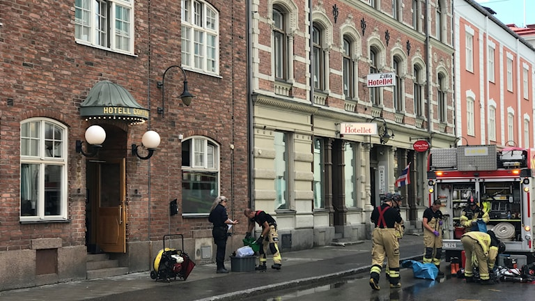Brand på Hotell Continental i Sundsvall.