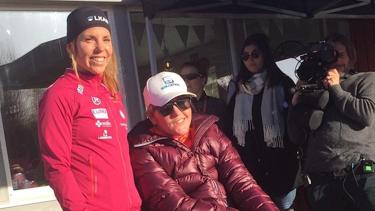 Charlotte Kallar och Anna Holmlund