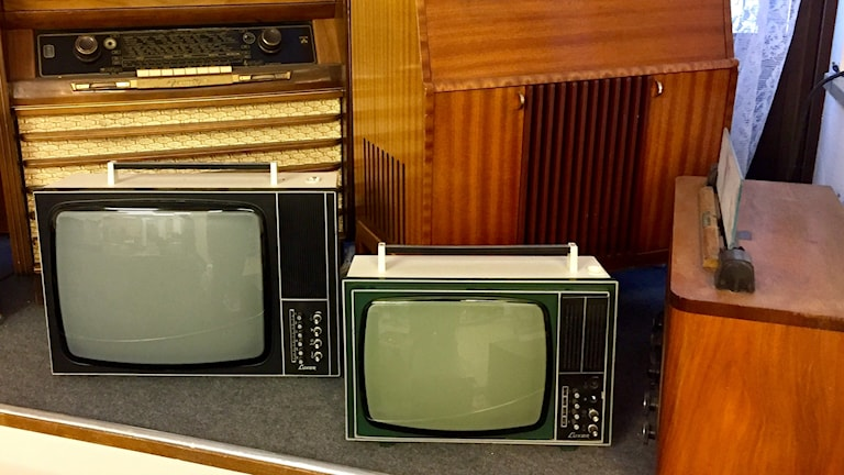Gamla tv-apparater. Foto: Karin Lönnå/Sveriges Radio