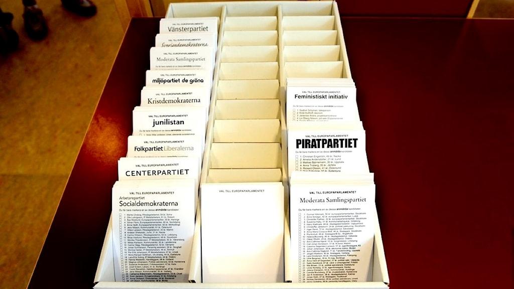 Valsedlar till EU-valet