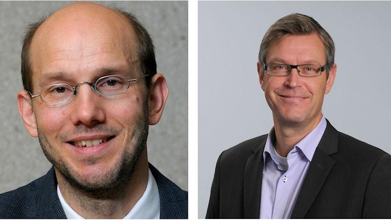 Bildcollage med regiondirektören Hans Wiklund och regionrådet Erik Lövgren (S)