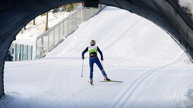 Stina Nilsson på en träningsrunda under Lahtis.