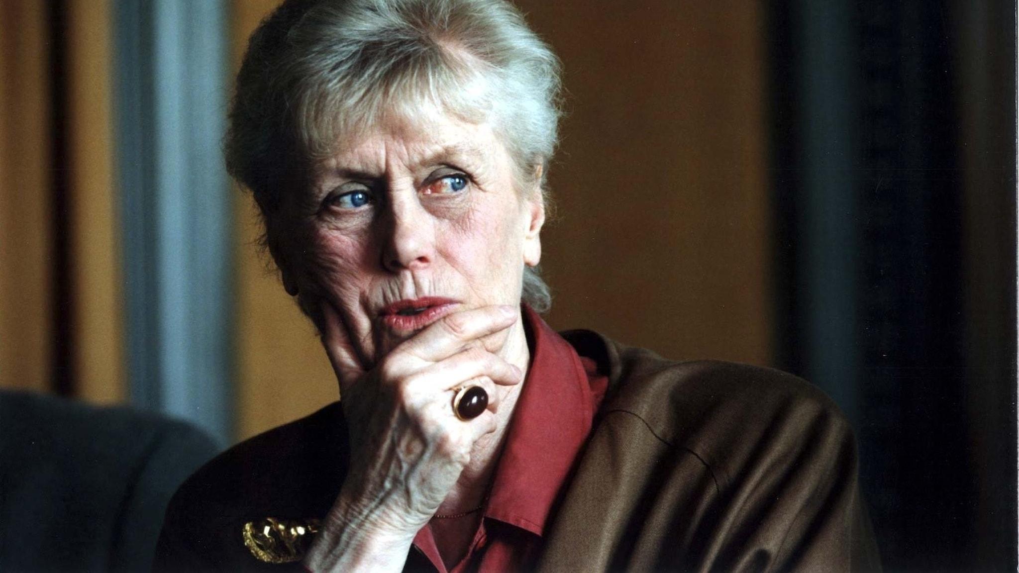 """Kerstin Ekman 1996, två år efter publiceringen av """"Rätten att häda""""."""