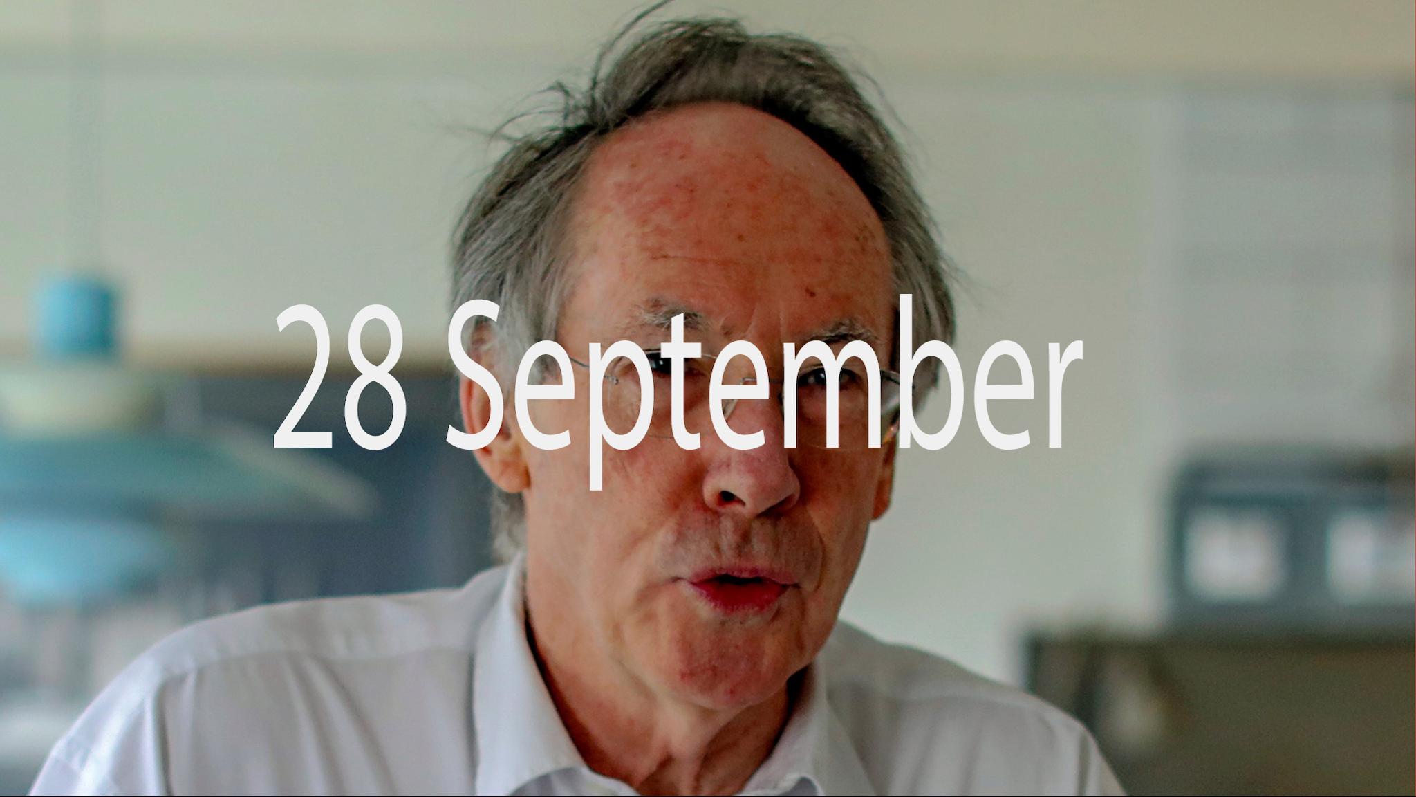 Ian McEwan, författare till romanen Nötskal
