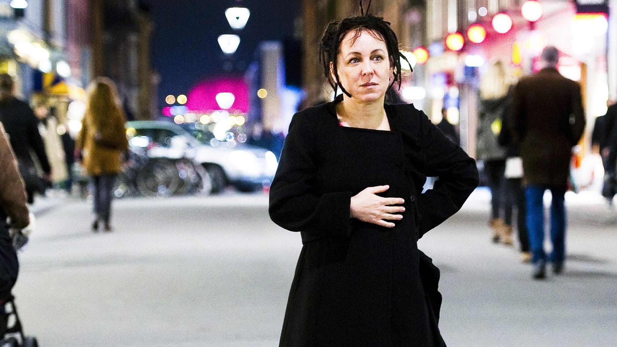 Den polska författaren Olga Tokarczuk.