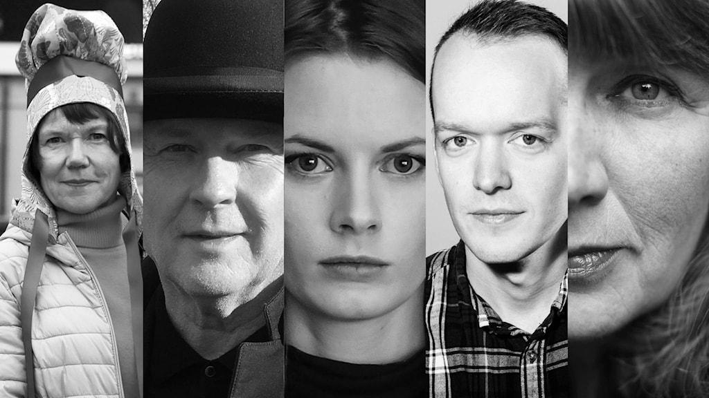 Rosa Liksom, Klas Östergren, Roskva Koritzinsky, Jónas Reynir Gunnarsson och Pia Juul
