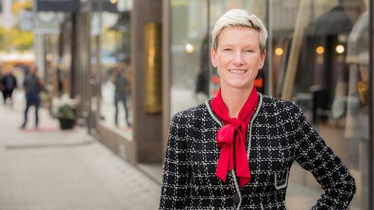Anna Wedin, chef för Svensk Handels arbetsgivarservice.