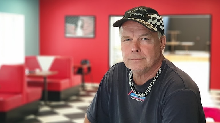 Roger Fridolfsson ordförande i bilklubben Beautytown Cruisers i Fagersta.