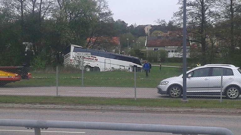 Bussolycka vid Rocklunda i Västerås