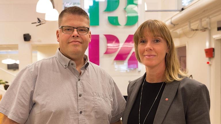 Anders Wigelsbo (C) och Ulrika Spårebo (S)