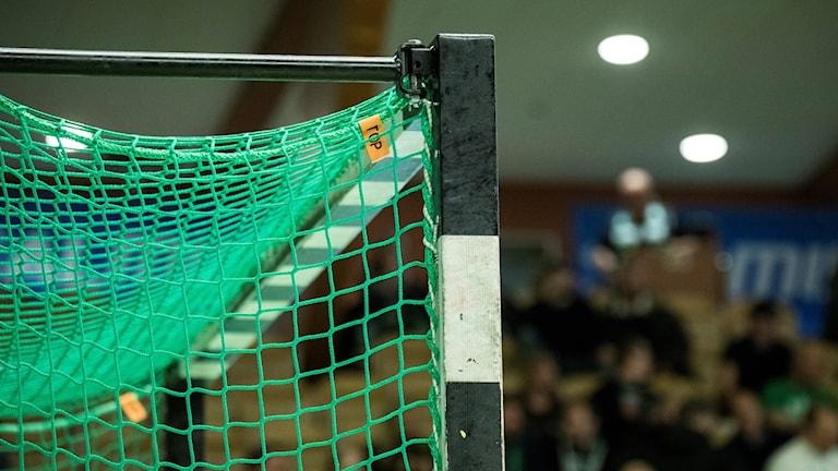 Handbollsmål med grönt nät. Foto: Christine Olsson/TT.