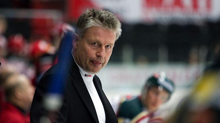 Per Bäckman under tiden som tränare i Frölunda 2007. Foto:TT.