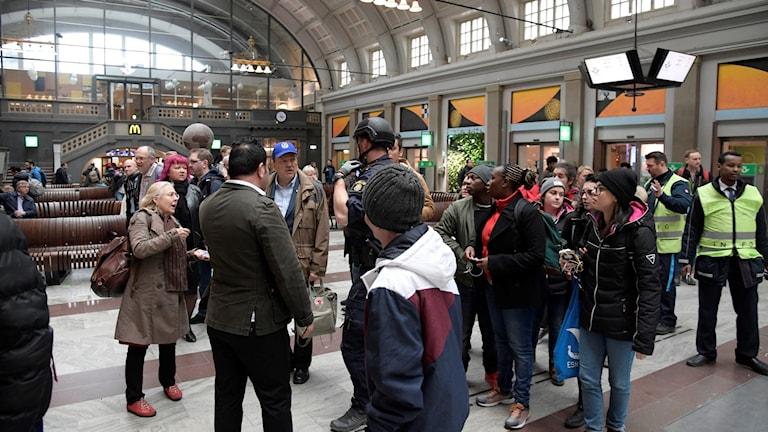 Centralstationen evakueras i Stockholm.