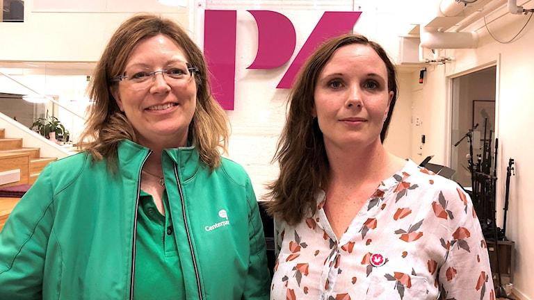 Vicki Skure-Eriksson (C) och Anna-Maria Romlid (V).