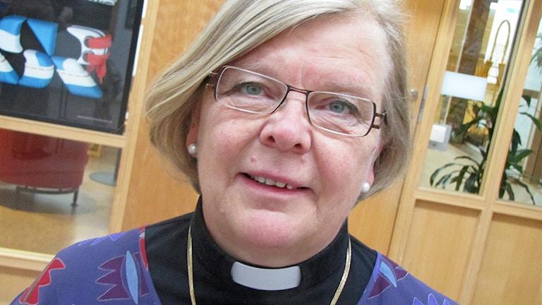 Margarethe Isberg, domprost i Västerås. Foto: Kennet Lindquist/SR Västmanland.