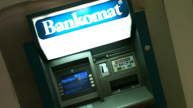 Bankomat, uttagsautomat. Foto: Kennet Lindquist/SR Västmanland.