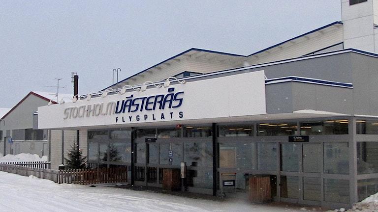 Entré till Västerås flygplats. Foto: Camilla Olsson/SR.