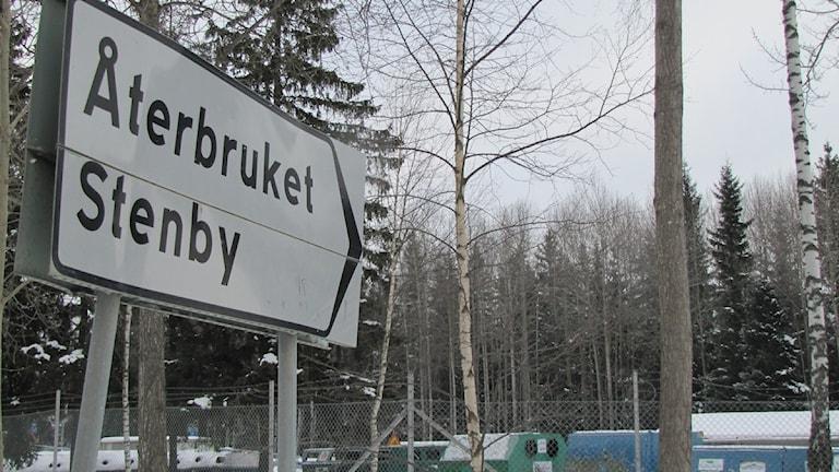 Återbruket på Stenby i Västerås.