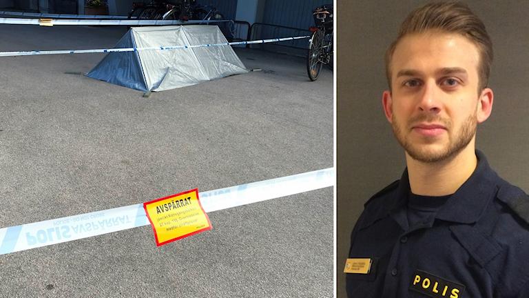 misstänkt mord på Norrbygatan plus Johan Thalberg