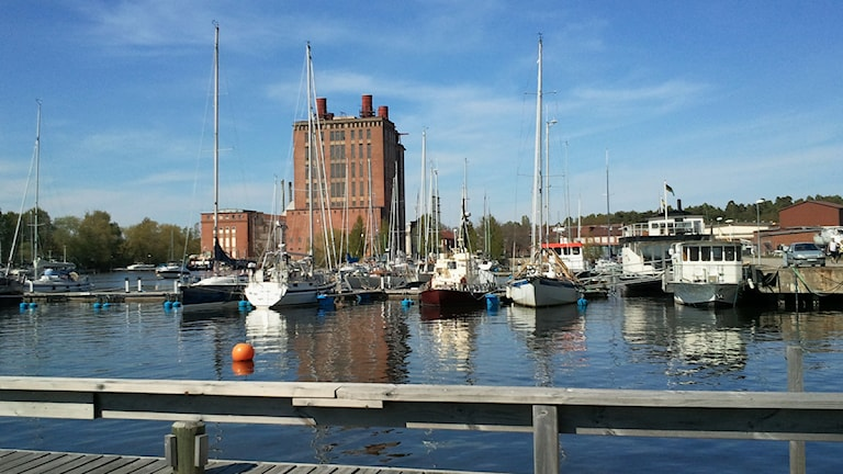 Bakom Ångkraftverket mot Mälaren 2011. Foto: Michael Gawell/P4 Västmanland.