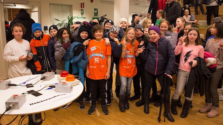 Skallbergsskolan vann första kvartsfinalen av Vi i femman i Västmanland.