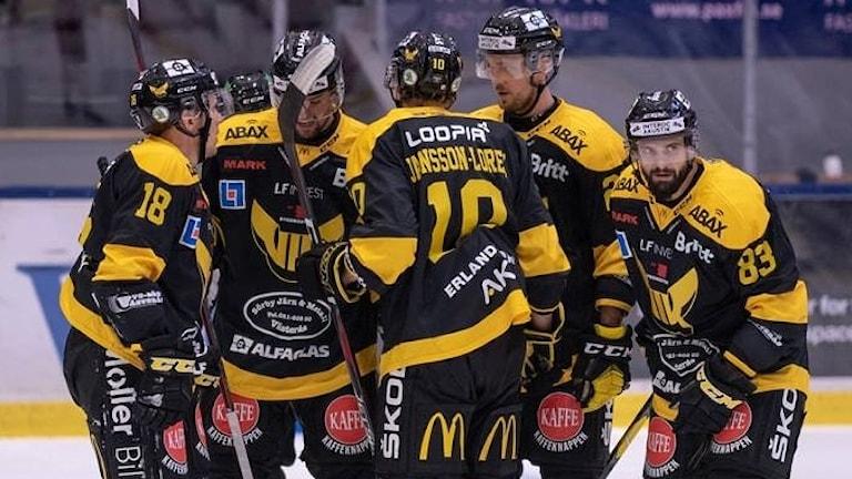 VIK Hockey firar ett mål