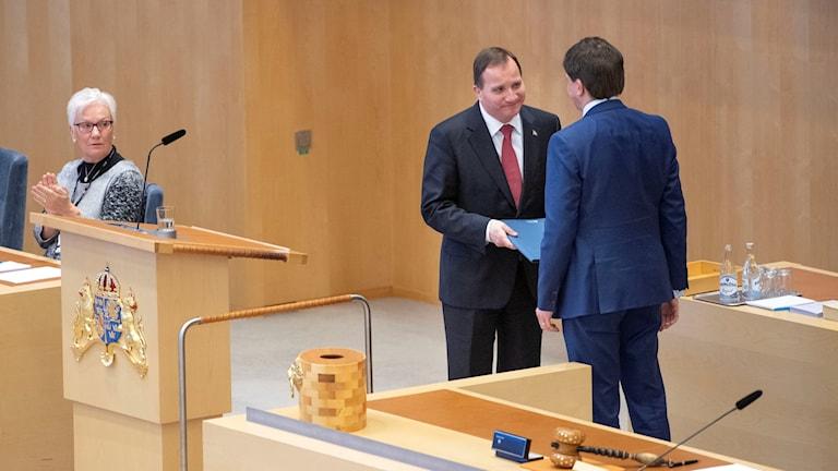 Löfven röstas fram som statsminister