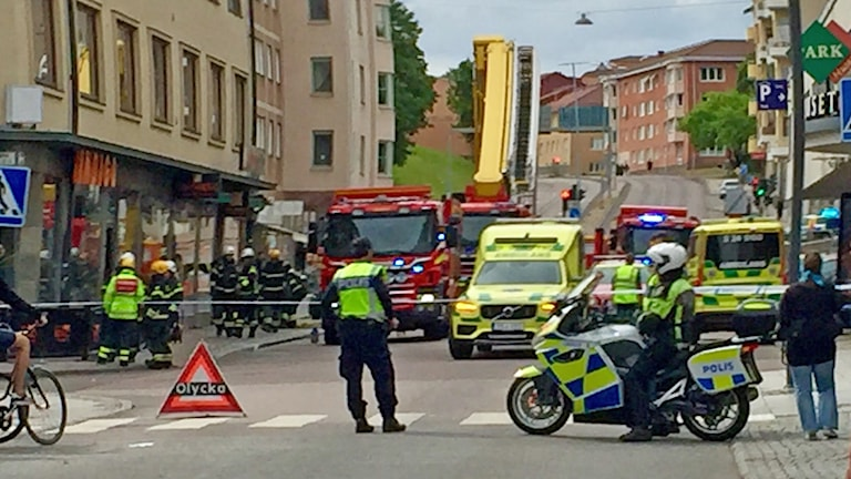 Misstänkt brand vid Stora gatan.