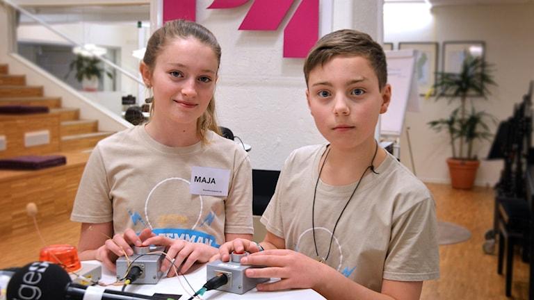 Maja Christensen och Viktor Rudin i tv-kvalet.