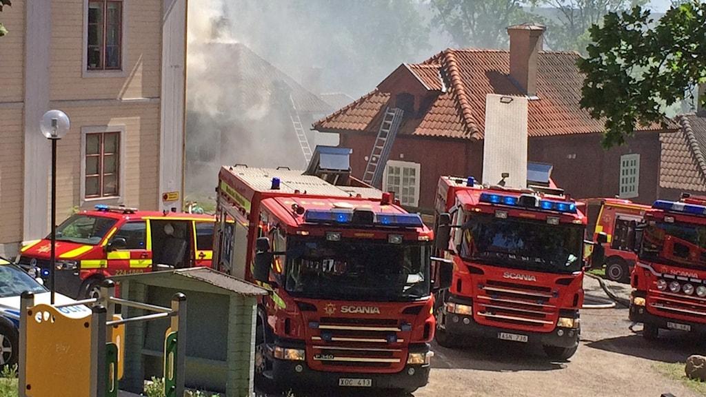Brand i Westsura herrgård.