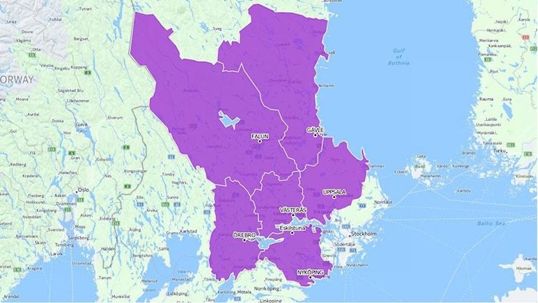Så här var tanken att Svealandsregionen skulle se ut.