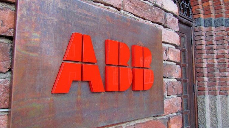 ABB-skylt utanför Ottarkontoret i Västerås.